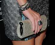 Nicky Hilton paired her embellished dress with a fancy cocktail ring.