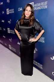 Soleil Moon Frye's unique take on the LBD dress code whilst attending the 4th Annual Sean Penn & Friends 'Help Haiti Home' Gala Benefit worked in her favor, the silky dress flattered and stood out from the crowd.