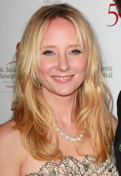 Anne Heche wore her layered cut casually tousled at the 50th anniversary celebration for St. Jude Children's Research Hospital.