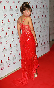 Elise Neal was seeing red in a heavily beaded evening dress for the St. Jude benefit.
