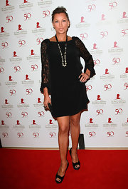 Vanessa Williams wore a black lacy cocktail dress for the St. Jude benefit.