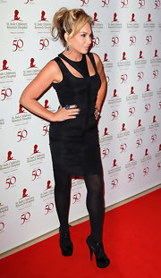 Adrienne Maloof showed some spunk in a black cutout dress for the St. Jude benefit.