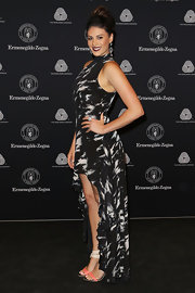Stephanie Rice posed at the 50th Anniversary Wool Awards in Sydney in a sassy fishtail frock.