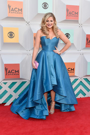 Lauren Alaina kept it flawless all the way down to her gold lace-up heels.