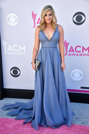 Lauren Alaina looked breathtaking in this periwinkle fishtail gown by Leanne Marshall at the 2017 ACM Awards.