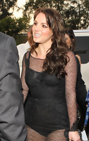 Britney Spears showed off a warm chestnut hue at the 52nd Grammy Awards. The dark shade really makes her skin glow.