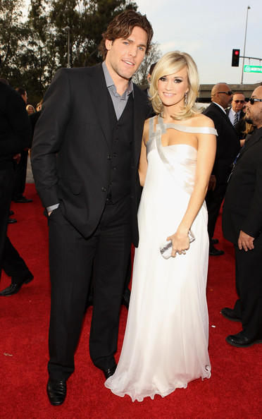 More Pics of Carrie Underwood Engagement Ring (1 of 21) - Wedding Rings Lookbook - StyleBistro [red carpet,gown,carpet,dress,clothing,flooring,suit,formal wear,event,premiere,arrivals,carrie underwood,mike fisher,r,california,los angeles,staples center,52nd annual grammy awards]