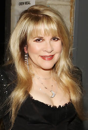Stevie Nicks accessorized with a lovely moon-pendant necklace at the Grammy Awards.