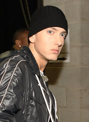 Eminem showed off a cool winter beanie.