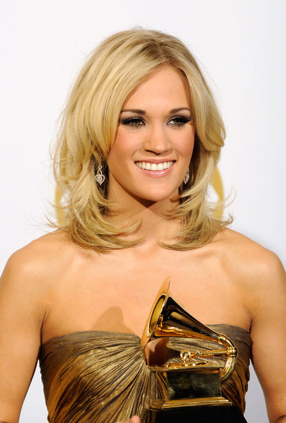More Pics of Carrie Underwood Medium Curls (2 of 12) - Carrie Underwood Lookbook - StyleBistro [i told you so,hair,blond,hairstyle,beauty,layered hair,long hair,dress,cocktail dress,shoulder,hair coloring,carrie underwood,award,country collaboration with vocals,room,press room,staples center,california,los angeles,52nd annual grammy awards]