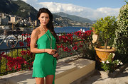 Jacqueline MacInnes Wood looked downright divine in her emerald-green one-shoulder dress at the Monte Carlo TV Festival.