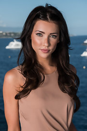 Jacqueline MacInnes Wood styled her hair in soft waves and a center part for her Monte Carlo TV Festival portrait session.