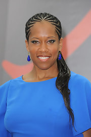 Regina King kept the blue theme going with a pair of teardrop earrings when she attended the Monte Carlo TV Festival.