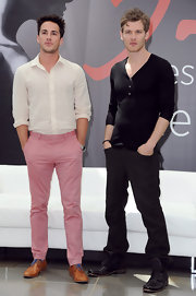 Michael Trevino looked quite dapper in his white button-down and pink slacks at the Monte Carlo TV Festival.