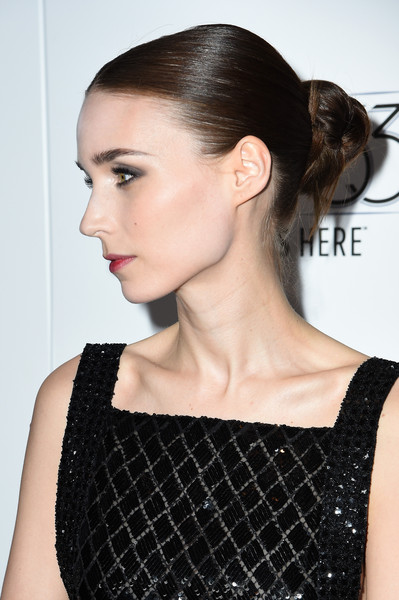 Rooney Mara sported a tight, twisted bun at the New York Film Fest premiere of 'Carol.'