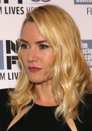 Kate Winslet showed off a radiant wavy hairstyle at the New York Film Festival.