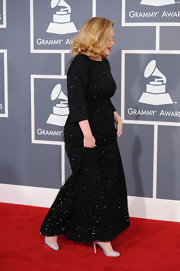 At the Grammys, Adele added extra sparkle with glittering pumps.