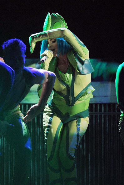 More Pics of Katy Perry Jumpsuit (1 of 22) - Suits Lookbook - StyleBistro [katy perry,performance,green,entertainment,performing arts,stage,event,performance art,public event,fun,concert,54th annual grammy awards,show,california,los angeles,staples center]