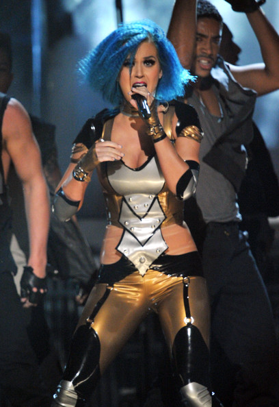More Pics of Katy Perry Jumpsuit (8 of 22) - Suits Lookbook - StyleBistro [katy perry,performance,event,performing arts,costume,singing,music,latex clothing,music artist,pop music,stage,54th annual grammy awards,show,california,los angeles,staples center]