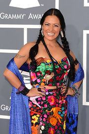 Lila Downs looked so traditional and stylish with two long braids at the 2013 Grammys.