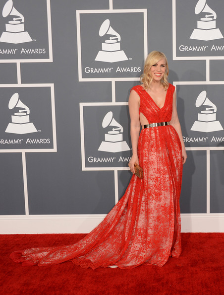 More Pics of Natasha Bedingfield Red Lipstick (1 of 11) - Natasha Bedingfield Lookbook - StyleBistro [red carpet,carpet,clothing,red,dress,flooring,gown,fashion,premiere,haute couture,arrivals,natasha bedingfield,staples center,los angeles,california,55th annual grammy awards]