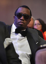 Sean Combs accessorized with a pair of modern-looking wayfarers at the pre-Grammy gala.