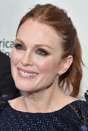 Julianne Moore attended the New York Film Festival screening of 'Wonderstruck' wearing her hair in a slightly messy ponytail.
