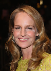Helen Hunt completed her look with small beaded hoops.