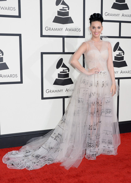 In Valentino Couture At The 2014 Grammy Awards