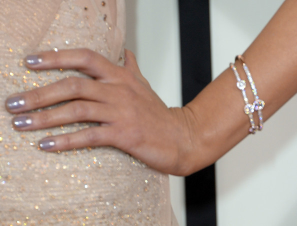 More Pics of Kacey Musgraves Diamond Bracelet (3 of 9) - Bracelets Lookbook - StyleBistro [nail,finger,hand,nail care,manicure,ring,wedding ring,jewellery,body jewelry,joint,arrivals,kacey musgraves,56th grammy awards,fashion detail,staples center,los angeles,california]