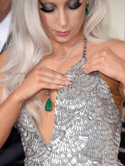 Lady Gaga opted for neutral nail polish when she attended the Grammys.