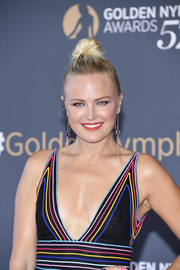 Malin Akerman attended the Monte Carlo TV Festival closing ceremony wearing an edgy top knot.