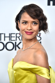 Gugu Mbatha-Raw looked vintage-glam with her curly bob at the New York Film Festival premiere of 'Motherless Brooklyn.'