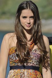 Ana de Armas kept it cool and casual in long bouncy curls at the San Sebastian Film Festival.