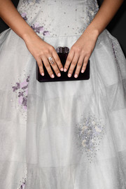 For her nails, Camila Cabello opted for a pale pink color.