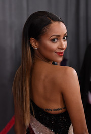 Kat Graham sported a sleek straight ombre hairstyle at the 2017 Grammys.