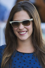Maria rocked a cool pair of bi-color wayfarers at the 59th San Sebastian Film Festival in Spain.