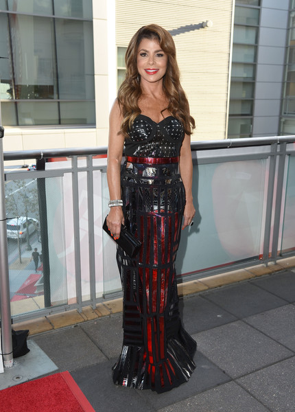 Paula Abdul rocked a fetish-chic mirror-embellished corset gown at the 5th Annual Celebration of Dance Gala.