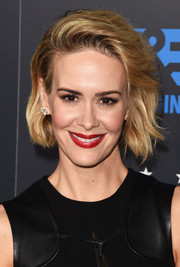 Sarah Paulson looked punky with her teased waves at the Critics' Choice Television Awards.