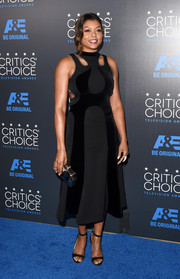 Taraji P. Henson went the edgy-modern route in a dual-textured cutout LBD by Alexander Wang at the Critics' Choice Television Awards.