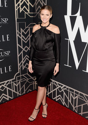 Shantel VanSanten looked divine in this off-the-shoulder LBD during the Elle Women in Music celebration.