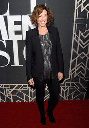 Sarah Mclachlan opted for a black blazer and skinny pants when she attended the Elle Women in Music celebration.