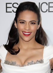 Paula Patton attended the 5th Annual 'Essence' Black Women in Hollywood luncheon wearing her hair in a sleek half-up, half-down style.
