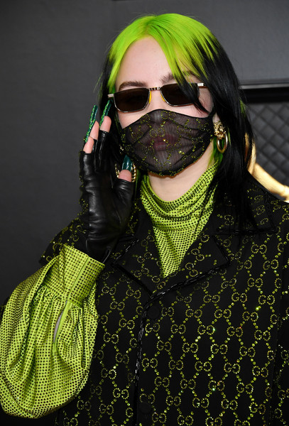 Billie Eilish attended the 2020 Grammys wearing a pair of fingerless gloves.