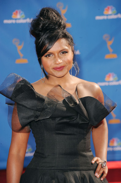 More Pics of Mindy Kaling Peep Toe Pumps (7 of 7) - Heels Lookbook - StyleBistro [hairstyle,dress,carpet,premiere,black hair,little black dress,flooring,red carpet,see-through clothing,singer,arrivals,mindy kaling,primetime emmy awards,california,los angeles,nokia theatre l.a. live,annual primetime emmy awards]