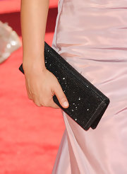 'Dancing with the Stars' co-star Cheryl Burke wore a black Swarovski crystal clutch at the 62nd Annual Primetime Emmy Awards.