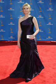 Jane looks lovely in a purple one-shoulder dress at the Emmy Awards.