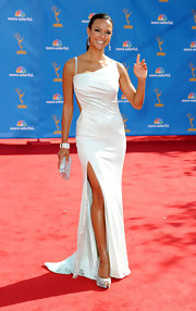 Eva la Rue was glowing all the way down to her glittery platform peep-toes when she attended the Emmys.
