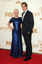 Amy Poehler shined at the 2011 Emmys in a navy blue gown. The fully sequined gown was just the right touch of glamor for the red carpet.