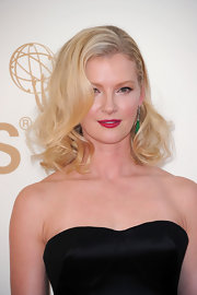 Gretchen Mol modernized her classic glamour girl look for the 63rd Emmys. Instead of a red lipstick, she chose a hot, hot pink shade.